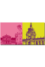 ART-DOMINO® BY SABINE WELZ Dresden - Zwinger-Wallpavillon + Kronentor