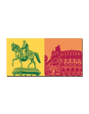 ART-DOMINO® by SABINE WELZ Dresden - König Johanns + Semperoper