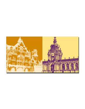 ART-DOMINO® BY SABINE WELZ Dresden - Georgentor + Kronentor