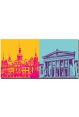 ART-DOMINO® by SABINE WELZ Dresden - Residenzschloss + Alte Wache
