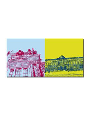 ART-DOMINO® BY SABINE WELZ Dresden - Akademie der Künste + Gemäldegalerie