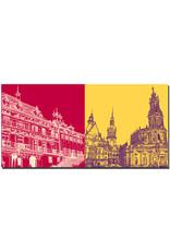 ART-DOMINO® by SABINE WELZ Dresden - Pillnitz Castle + Old Town View