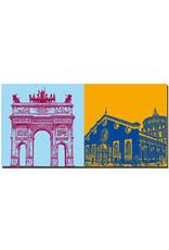 ART-DOMINO® by SABINE WELZ Milan - Arco della Pace + St. Maria delle Grazie