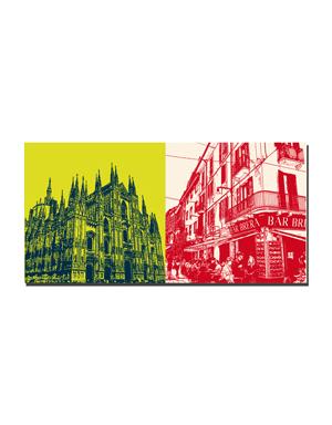 ART-DOMINO® by SABINE WELZ Mailand - Duomo + Brera District