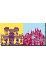 ART-DOMINO® by SABINE WELZ Milan - Galleria Vittorio Emanuele + Duomo