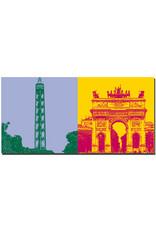 ART-DOMINO® BY SABINE WELZ Mailand - Torre Branca + Arco della Pace