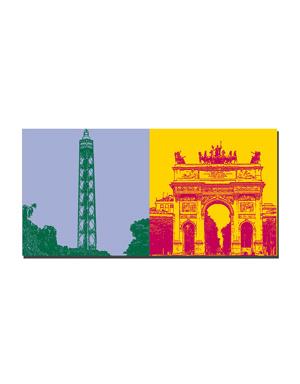 ART-DOMINO® by SABINE WELZ Milan - Torre Branca + Arco della Pace