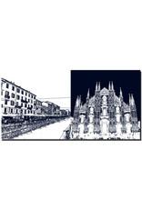 ART-DOMINO® BY SABINE WELZ Mailand - Navigli + Duomo