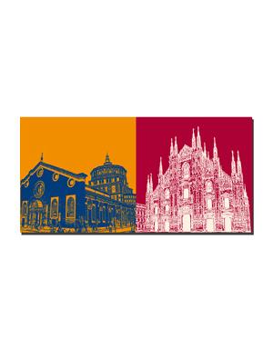ART-DOMINO® by SABINE WELZ Milan - St. Maria delle Grazie + Duomo