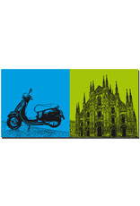 ART-DOMINO® BY SABINE WELZ Mailand - Vespa + Duomo