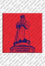 ART-DOMINO® by SABINE WELZ Mailand - Monumento a Leonardo da Vinci