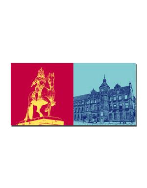 ART-DOMINO® BY SABINE WELZ Düsseldorf - Jan Wellem + Rathaus