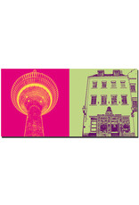 ART-DOMINO® BY SABINE WELZ Düsseldorf - Rheinturm + Heine Haus