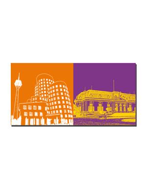 ART-DOMINO® BY SABINE WELZ Düsseldorf - Gehry-Bauten + Schloss Benrath
