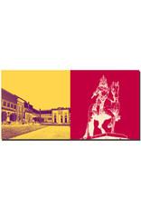 ART-DOMINO® BY SABINE WELZ Düsseldorf - Ehrenhof Westflügel + Jan Wellem