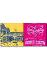 ART-DOMINO® BY SABINE WELZ Berlin - Bahnhof Friedrichstrasse + Weltzeituhr
