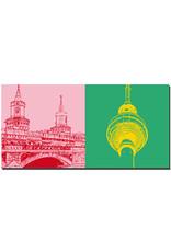 ART-DOMINO® by SABINE WELZ Berlin - Oberbaumbrücke + Fernsehturm