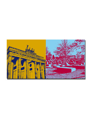 ART-DOMINO® by SABINE WELZ Berlin - Brandenburger Tor + Holocaust-Mahnmal