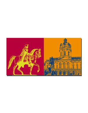 ART-DOMINO® BY SABINE WELZ Berlin - Alter Fritz + Schloss Charlottenburg