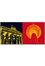 ART-DOMINO® by SABINE WELZ Berlin - Brandenburger Tor + Fernsehturm