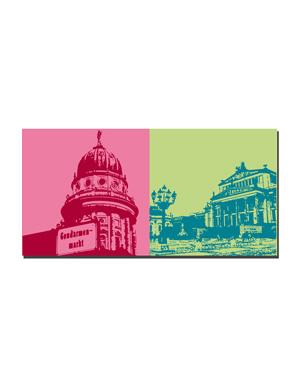 ART-DOMINO® BY SABINE WELZ Berlin - Französischer Dom auf dem Gendarmenmarkt + Konzerthaus auf dem Gendarmenmarkt