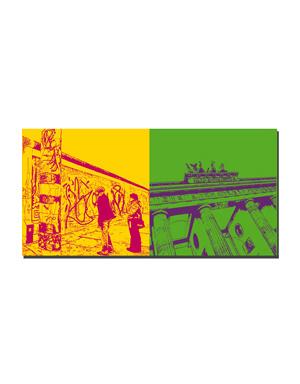 ART-DOMINO® by SABINE WELZ Berlin - Eastside-Gallery + Brandenburger Tor