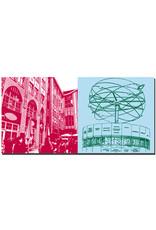 ART-DOMINO® by SABINE WELZ Berlin - Hackescher Markt + Weltzeituhr