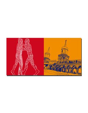 ART-DOMINO® by SABINE WELZ Berlin - Molecul Men + Oberbaumbrücke