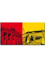 ART-DOMINO® by SABINE WELZ Berlin - Brandenburger Tor + Schloss Bellevue
