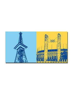 ART-DOMINO® BY SABINE WELZ Berlin - Funkturm + Olympiastadion