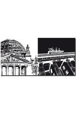 ART-DOMINO® BY SABINE WELZ Berlin - Bâtiment du Reichstag + Porte de Brandebourg
