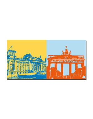 ART-DOMINO® by SABINE WELZ Berlin - Reichstagsgebäude + Brandenburger Tor