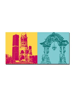 ART-DOMINO® by SABINE WELZ Berlin - Kaiser Wilhelm Memorial Church + Elephant Gate - Zoo Berlin