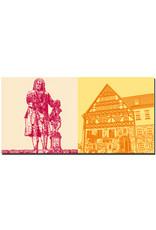 ART-DOMINO® BY SABINE WELZ Eisenach - Bachdenkmal + Creutznachhaus
