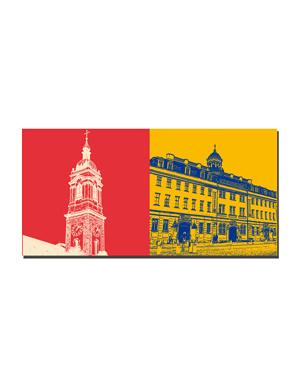 ART-DOMINO® BY SABINE WELZ Eisenach - Georgenkirchturm + Stadtschloss