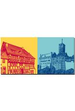 ART-DOMINO® BY SABINE WELZ Eisenach - Lutherhaus + Wartburg
