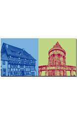 ART-DOMINO® BY SABINE WELZ Eisenach - Lutherhaus + Burschenschaftsdenkmal