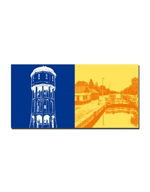 ART-DOMINO® BY SABINE WELZ Emden - Wasserturm + Kesselschleuse