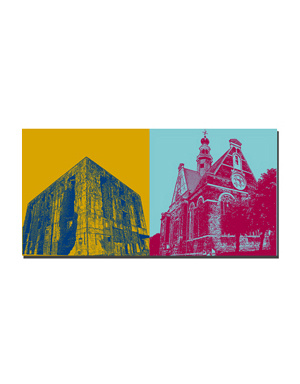 ART-DOMINO® BY SABINE WELZ Emden - Bunker + Neue Kirche
