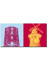 ART-DOMINO® BY SABINE WELZ Emden - Rote Mühle + Mühle Vrouw Johanna