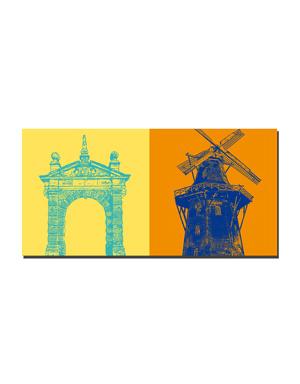 ART-DOMINO® BY SABINE WELZ Emden - Hafentor + Mühle Vrouw Johanna