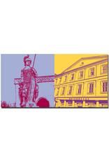 ART-DOMINO® BY SABINE WELZ Erfurt - Statue auf dem Domplatz + Kaisersaal