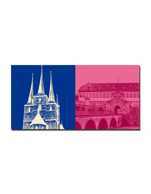 ART-DOMINO® BY SABINE WELZ Erfurt - St. Severin + Zitadelle Petersberg
