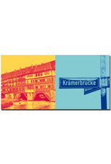 ART-DOMINO® BY SABINE WELZ Erfurt - Krämerbrücke + Schild Krämerbrücke