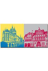 ART-DOMINO® BY SABINE WELZ Erfurt - Dom St. Marien + Fischmarkt