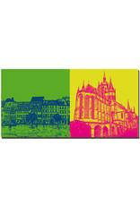 ART-DOMINO® BY SABINE WELZ Erfurt - Häuser am Domplatz + Dom St. Marien