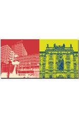 ART-DOMINO® BY SABINE WELZ Erlangen - Rathaus + FAU-Schloss