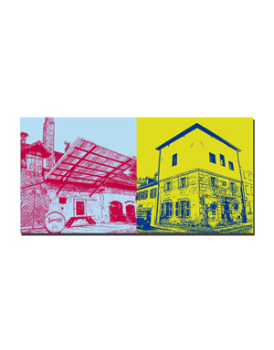 ART-DOMINO® BY SABINE WELZ Erlangen - Steinbachbräu + Wasserturm