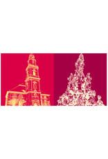 ART-DOMINO® BY SABINE WELZ Erlangen - Hugenottenkirche + Hugenottenbrunnen