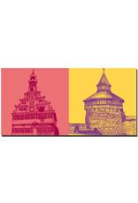 ART-DOMINO® BY SABINE WELZ Esslingen - Altes Rathaus + Dicker Turm